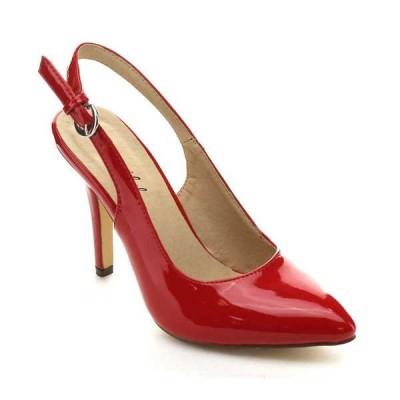 ヒール パンプス ビジネス シューズ 靴 海外厳選ブランド BONNIBEL CARRIE-5 レディース Pointed Toe Stiletto Sling Back パンプスs RED