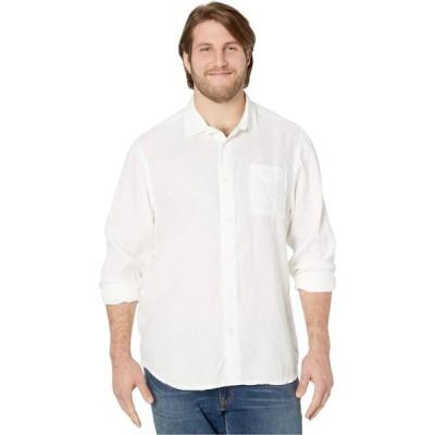 トミー バハマ Tommy Bahama Big & Tall メンズ シャツ トップス Sea Glass Breezer Long Sleeve Shirt White