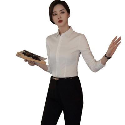ズボン スカート レディース シャツ 大きいサイズ 通勤 長袖 細身 事務服 ビジネス 春 夏 オフィスシャツ 制服 ワイシャツ 上着 ズボン スカート