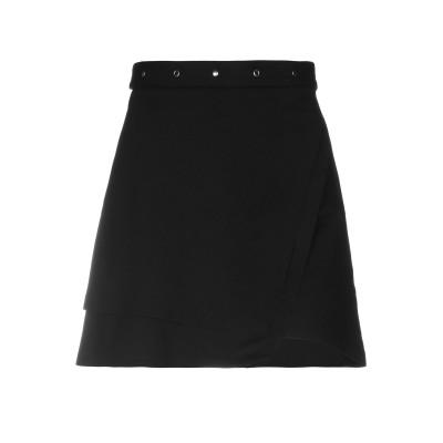 COSTUME NEMUTSO ミニスカート ブラック 40 レーヨン 65% / ナイロン 30% / ポリウレタン 5% ミニスカート