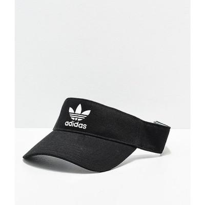アディダス ADIDAS レディース サンバイザー 帽子 adidas Trefoil Twill Black Visor Black