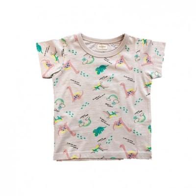 ベビーザらス限定 sophitica 恐竜総柄 半袖Tシャツ (ライトベージュ×90cm)