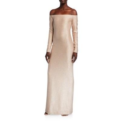 セント ジョン コレクション レディース ワンピース トップス Glimmering Sequined Off-the-Shoulder Gown