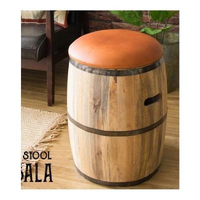BARREL STOOL 天然木樽型スツールkkkez