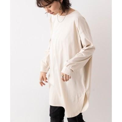 tシャツ Tシャツ 綿100% 無地ロングパフ袖Tシャツ