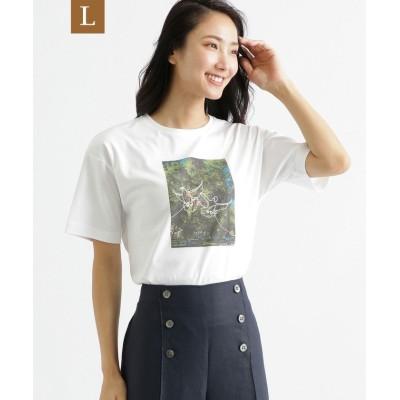 【サンヨー エルサイズ】 35th Anniversary オーガニックコットンTシャツ レディース オフホワイト 44 SANYO L SIZE