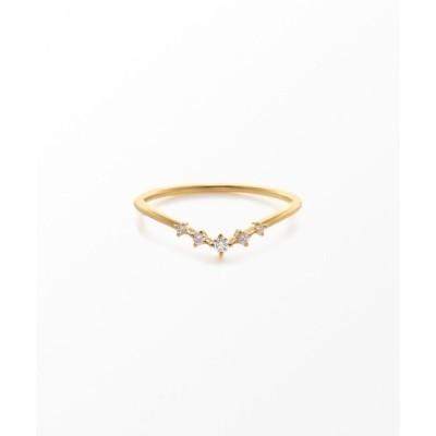 指輪 K18YG ダイヤモンド リング「レイヤード」