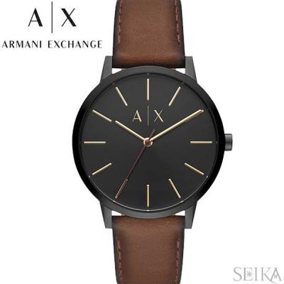 (レビューを書いて5年保証) 時計 アルマーニエクスチェンジ ARMANI EXCHANGE AX2706 腕時計 メンズ ブラック ブラウン レザー