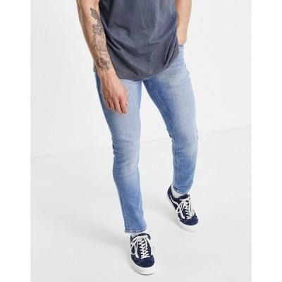 エイソス メンズ デニムパンツ ボトムス ASOS DESIGN stretch slim jeans in vintage light wash