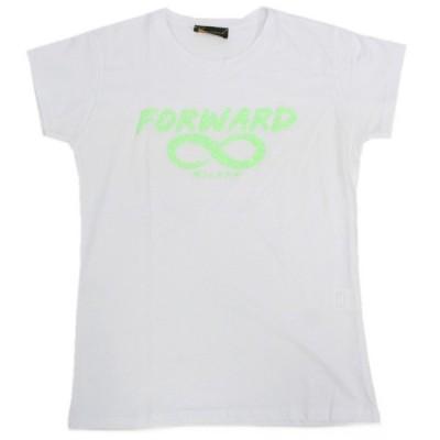 フォワードミラノ Forward MILANO レディース クルーネック 半袖 Tシャツ ロゴラメ ホワイト カットソー トップス イタリア T-shirt カジュアル かわいい WA023