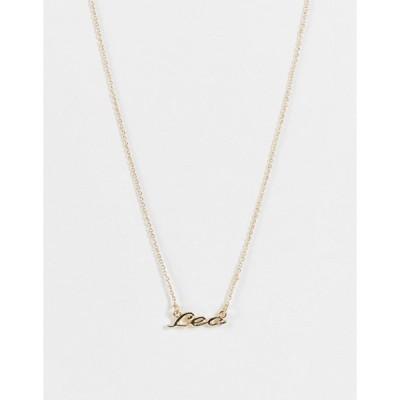 モンキ レディース ネックレス・チョーカー アクセサリー Monki Zodiac Leo sign necklace in gold
