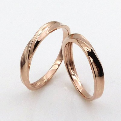 【メンズ/レディース】ペアリング マリッジリング 結婚指輪 ピンクゴールド K10 日本製 ha1-5760k10pg