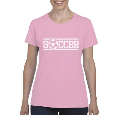 レディース 衣類 トップス Womens Soccer With Ball Short Sleeve T-Shirt Tシャツ