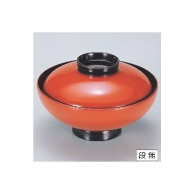 小吸椀 4.5寸小槌吸椀朱つば黒 漆器 高さ62 直径:130/業務用/新品