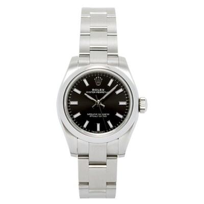 ロレックス ROLEX 腕時計 レディースウォッチ オイスターパーペチュアル ブラック文字盤 176200 【お取り寄せ】【wcl】【hkc】【scd】【glw】