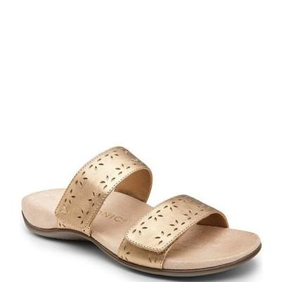 バイオニック レディース サンダル シューズ Randi Perforated Leather Slide Sandals