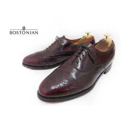 古着 大きいサイズ BOSTONIAN ボストニアン 外羽根フルブローグ/ウィングチップシューズ 靴 ダークボルドー系 メンズ US 10.5D/B / 28.5cm相当 f-2869