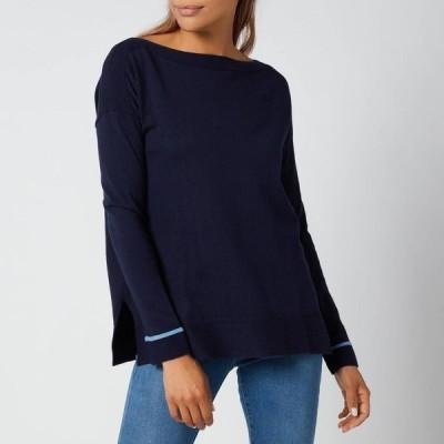 ジュールズ Joules レディース スウェット・トレーナー トップス Vivianna Knitted Sweatshirt - French Navy Blue