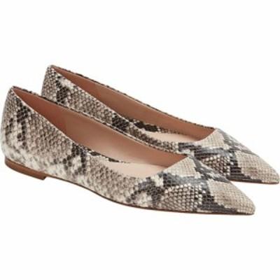 エムエムラフルール M.M. LaFleur レディース スリッポン・フラット シューズ・靴 Rowan Flat - Snakeskin Black/Ivory