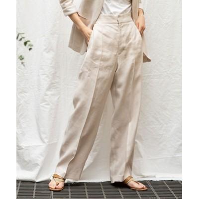 LANDWARDS / 【Liyoca】サフィラリネンハイライズパンツ WOMEN パンツ > スラックス