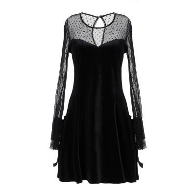 MANGANO ミニワンピース&ドレス ブラック M ポリエステル 100% ミニワンピース&ドレス