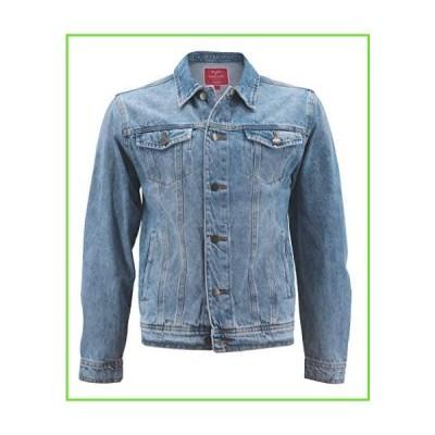 Red Label Mens Premium Casual Faded Denim Jean Button Up Cotton Slim Fit Jacket (Light Blue, M)【並行輸入】【新品】