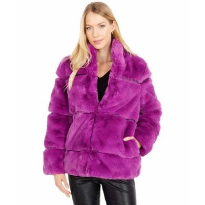 アッパリス コート アウター レディース Sarah 2 Faux Fur Coat Purple Clover