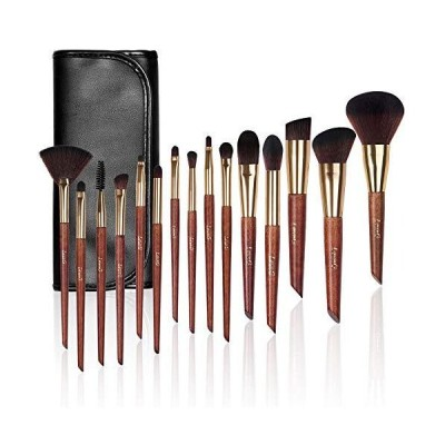 Make up Brushes, LEUNG 15pcs Makeup Brush Set, Premium Synthetic Foundation Blending Makeup Brushes, Concealer Brush Eye Shadow Brush with L