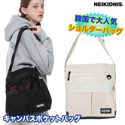 注目トレンドなバッグ!★2020年NEW★NEIKIDNIS★CANVAS POCKET BAG キャンバスポケットバッグ韓国大人気のリュックサックのかばん