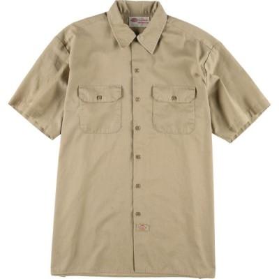 ディッキーズ Dickies 半袖 ワークシャツ メンズXL /eaa029982