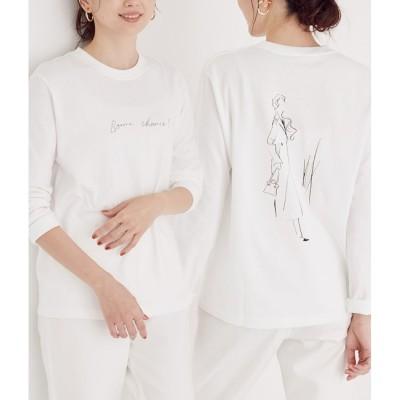 【ロペ マドモアゼル/ROPE' mademoiselle】 【ROPE' × Miyuki Ohashi(大橋美由紀)】コラボレーションロングTシャツ