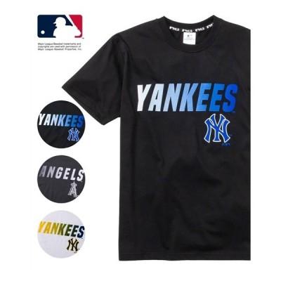 Tシャツ カットソー メンズ MAJOR LEAGUE BASEBALL グラデーション プリント 半袖 M/L/LL ニッセン nissen