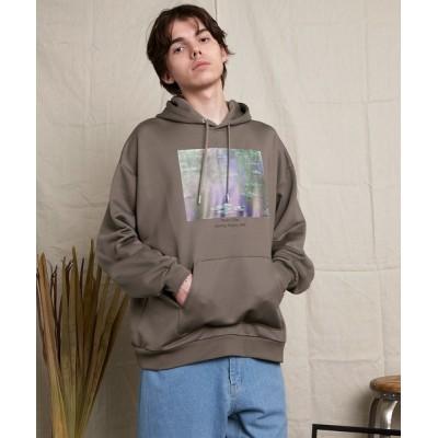EMMA CLOTHES / ART×EMMA CLOTHES別注 アート転写プリントビックシルエットプルオーバーパーカー/Claude Monet MEN トップス > パーカー