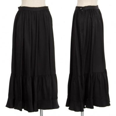 トリココムデギャルソンtricot COMME des GARCONS キュプラギャザー切替スカート 黒M 【レディース】