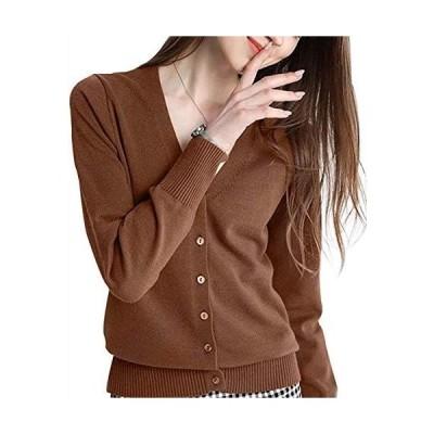 カーディガン レディース セーター ニット トップス vネック ボタン付け ジャケット 軽量 羽織り アウター 春服夏服 冷房対策