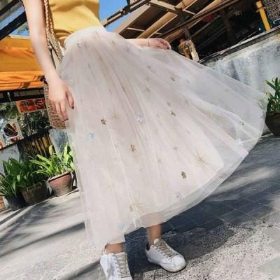 スカート フレアスカート ロング ロングフレアスカート フレアスカート大きいサイズ レースロングスカート フレアスカート春 夏