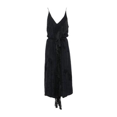 フォルテ フォルテ FORTE_FORTE ロングワンピース&ドレス ブラック 3 シルク 100% ロングワンピース&ドレス