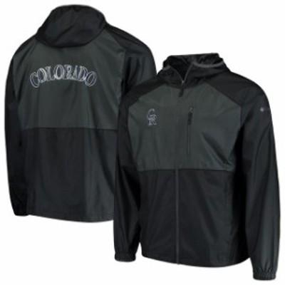Columbia コロンビア スポーツ用品  Columbia Colorado Rockies Black Flash Forward Full-Zip Team Windbreaker Jacket
