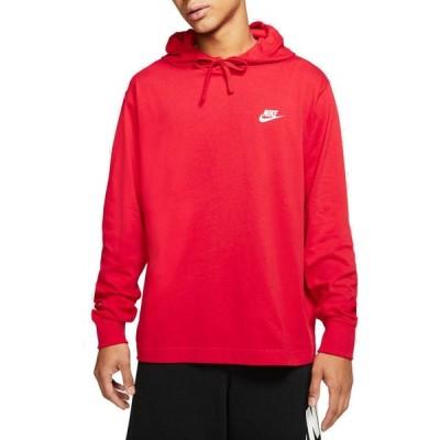 ナイキ Nike メンズ パーカー トップス Sportswear Club Jersey Pullover Hoodie (Regular and Big & Tall) University Red/White