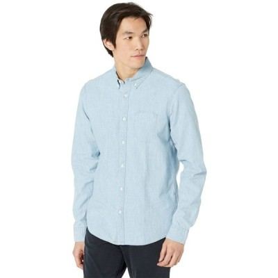 スコッチ&ソーダ Scotch & Soda メンズ シャツ シャンブレーシャツ トップス Regular Fit - Chest Pocket Chambray Shirt Bleached Indigo