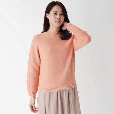 エッシュ esche 求心編みホールガーメント(R)セーター (ライトオレンジ)