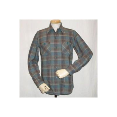 HV-06-ブルー-50'sチェックネルシャツ06-HV06-DELUXEWARE-デラックスウエアネルシャツ・デラックスウエアシャツ