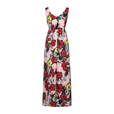 リュー ジョー LIU •JO ロングワンピース&ドレス ピンク 38 ポリエステル 100% ロングワンピース&ドレス