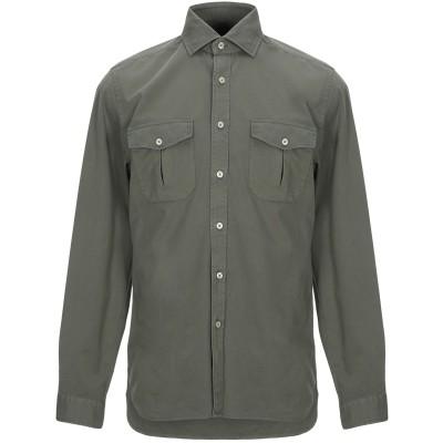 XACUS シャツ ミリタリーグリーン L コットン 100% シャツ