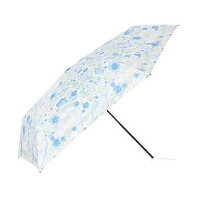 超軽量日傘 ブーケ 折りたたみ傘 31-230-30034-05 サックスブルー