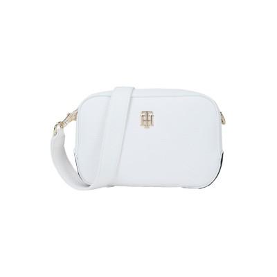 YOOX - トミーヒルフィガー TOMMY HILFIGER メッセンジャーバッグ ホワイト ポリウレタン 100% メッセンジャーバッグ