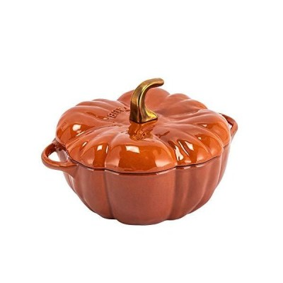 [ ストウブ 鍋 ] Staub パンプキンココット 24cm 両手鍋 ホーロー鍋 11124806 シナモン Pumpkin Cocotte Round cinnamon おしゃ?