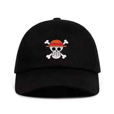 UMiCHOi ワンピース帽子 アニメキャップ 野球 日本人のお父さんの帽子 メンズ ブラック US サイズ: skeleton カラー: ブラック