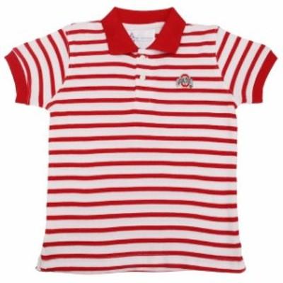 Two Feet Ahead トゥー フィート アヘッド スポーツ用品  Ohio State Buckeyes Preschool Scarlet Striped Golf Polo
