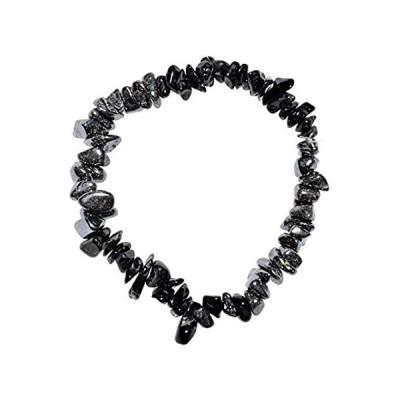 【新品】Zenergy Gems チャージドプレミアム天然クリスタルチップビーズブレスレット + モロッコのセレナイト充電クリスタル [付属]